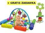 Mata edukacyjna z poduszkami i pałąkami Wesoła Gąsienica - mata dla niemowląt K's Kids w sklepie internetowym MądreSzkraby