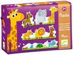 Puzzle małe u duże zwierzątka - puzzle tekturowe poznaję zwierzęta, DJECO w sklepie internetowym MądreSzkraby