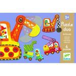 Puzzle DUO Pojazdy - puzzle dla dzieci 2+ samochody, koparki, DJECO w sklepie internetowym MądreSzkraby