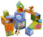 Klocki dla dzieci domki ze zwierzątkami - kartonowe klocki piramida Caubanimo, Djeco w sklepie internetowym MądreSzkraby