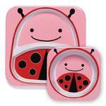 Zestaw jedzeniowy dla dzieci talerz dzielony + miska - naczynia dla maluchów Zoo Biedronka, SKIP HOP - Zoo Biedronka w sklepie internetowym MądreSzkraby