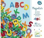 Drewniane literki magnetyczne dla dzieci ALFABET - litery do nauki alfabetu DJECO DJ03101 w sklepie internetowym MądreSzkraby