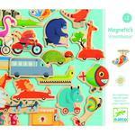 Magnesy pojazdy - magnetyczne zwierzątka w pojazdach na lodówkę, do tablicy, DJECO DJ03125 w sklepie internetowym MądreSzkraby