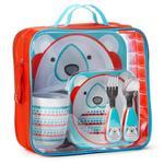 Zestaw jedzeniowy dla dzieci w walizeczce - miseczka, talerzyk, kubek, łyżka i widelec, Zoo Winter Miś Polarny, SKIP HOP w sklepie internetowym MądreSzkraby