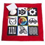 Czerwono czarno biała mata edukacyjna dla niemowląt - kontrastowa mata rozwojowa Manhattan Toy w sklepie internetowym MądreSzkraby