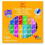 Zestaw 8 dwustronnych flamastrów, 16 kolorów spieralnych mazaków dla dzieci, DJECO DJ08875 w sklepie internetowym MądreSzkraby