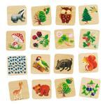 Drewniana zgadywanka dla dzieci - zwierzęta w lesie, GOKI 56869 w sklepie internetowym MądreSzkraby