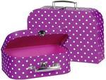 Malinowe walizki dla dzieci - zestaw walizek w kropki 2 szt., GOKI 60106 w sklepie internetowym MądreSzkraby