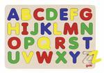 Drewniana układanka z alfabetem literki A-Z - nauka liter 26 el., GOKI GK601 w sklepie internetowym MądreSzkraby