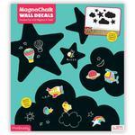 Naklejki ścienne samoprzylepne magnetyczne - tablice kredowe Niebo, wielorazowe, 3+, Mudpuppy w sklepie internetowym MądreSzkraby