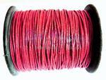 Czerwony sznurek woskowany 1 mm - Czerwony w sklepie internetowym Art-bijou.com