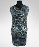 Sukienka Wikki szaro/złota w sklepie internetowym Amaya-Moda.pl