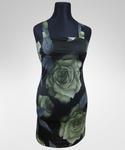 Sukienka Adelle / zielone róże w sklepie internetowym Amaya-Moda.pl