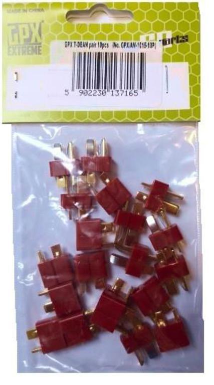 761c2f43a1ea8c Para konektorów T-DEAN - zestaw 10 kompletów w sklepie internetowym  mix-hurt. Powiększ zdjęcie