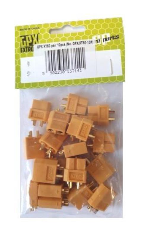 793ad0cf9c4101 Konektory XT60 - zestaw 10 kompletów w sklepie internetowym mix-hurt.  Powiększ zdjęcie