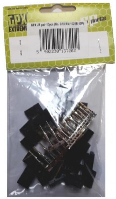 2becf8a49d3fd2 Para konektorów JR - zestaw 10 kompletów w sklepie internetowym mix-hurt.  Powiększ zdjęcie