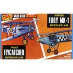 Modele plastikowe - Samoloty Fairey Flycatcher & Hawk Fury 2-pak - Lindberg w sklepie internetowym mix-hurt