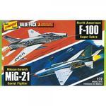 Modele plastikowe - Myśliwce Vietnam Era Fighters (F-100 Supersabre & Mig-21BD) 2 szt. - Lindberg w sklepie internetowym mix-hurt
