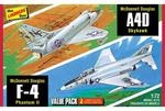 Modele plastikowe - Myśliwce Vietnam Era Fighters (F-4G Phantom & A4D Skyhawk) 2 szt. - Lindberg w sklepie internetowym mix-hurt