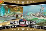 Modele plastikowe - American Icons of WWII LCVP & USS DeLong - Lindberg w sklepie internetowym mix-hurt
