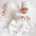 Komplet do chrztu dla dziewczynki Kokardki CHRZ-10 w sklepie internetowym e-Zygzak.pl