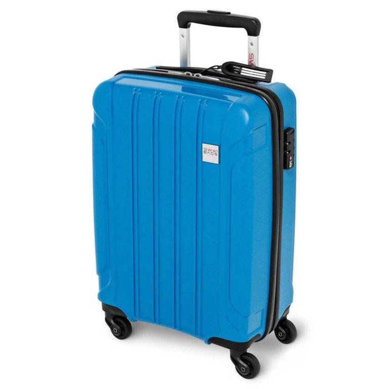 91a35a66d2dc2 Walizka Kabinowa SwissBags Tourist (S) 55 cm - Niebieska - niebieski \  Kabinowy w. Powiększ zdjęcie