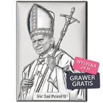 Dewocjonalia Obrazek srebrny Papież Jan Paweł II w sklepie internetowym AnKa Biżuteria