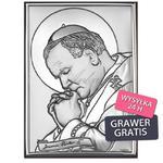 Obrazek Jana Pawła II Obrazek srebrny 6*9 w sklepie internetowym AnKa Biżuteria
