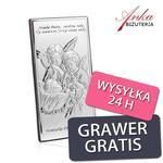 Pamiątka z okazji Chrztu Świętego - Obrazek srebrny z Aniołkami 9 cm * 18 cm w sklepie internetowym AnKa Biżuteria