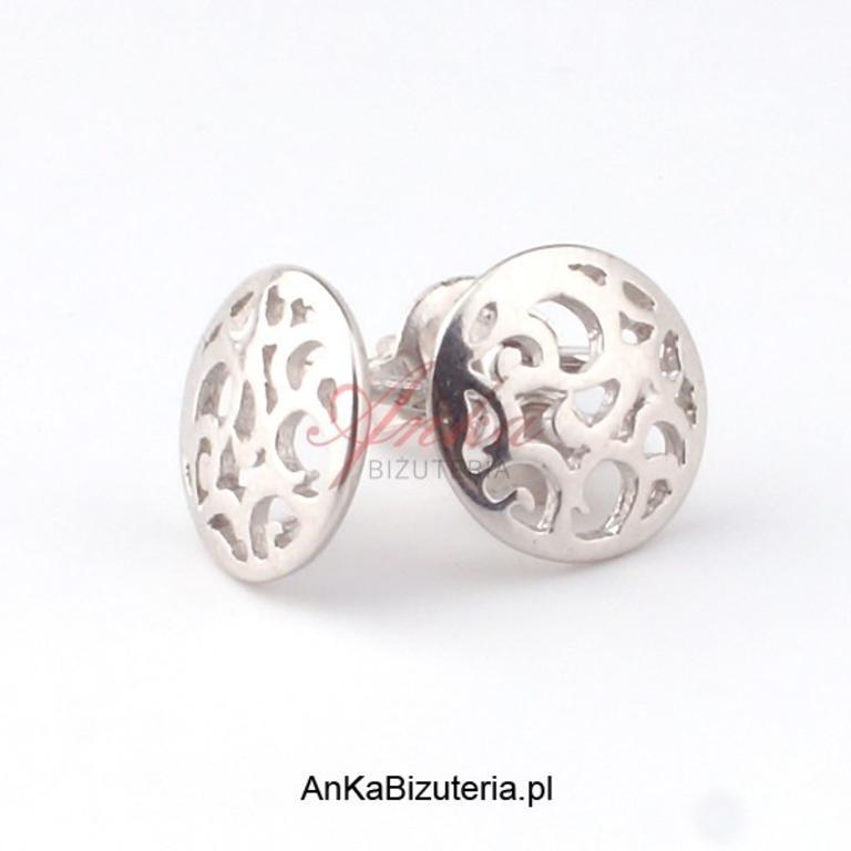67fd11954ddc Kolczyki srebrne ażurowe kółeczka do celebrytek w sklepie internetowym AnKa  Biżuteria. Powiększ zdjęcie