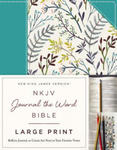 NKJV, Journal the Word Bible, Large Print, Cloth over Board, Blue Floral, Red Letter Edition w sklepie internetowym Libristo.pl
