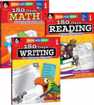 180 Days of Reading, Writing, and Math for First Grade 3-Book Set w sklepie internetowym Libristo.pl