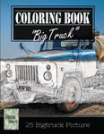 Classic Truck Jumbo Car Sketch Grayscale Photo Adult Coloring Book, Mind Relaxation Stress Relief: Just added color to release your stress and power b w sklepie internetowym Libristo.pl