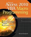 Microsoft Access 2010 VBA Macro Programming w sklepie internetowym Libristo.pl