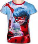 T-shirt Miraculum Biedronka i Czarny Kot Paryż czerwony w sklepie internetowym Ubraniak.pl
