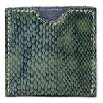 Elegancka skórzana kondomierka - Devine French Envelope zielony wąż w sklepie internetowym PokojRozkoszy.pl
