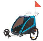 Przyczepka rowerowa dla dziecka, podwójna - THULE Coaster XT - niebieska w sklepie internetowym Scandinavianbaby.pl