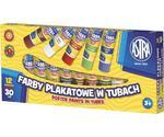 Farby plakatowe w tubach 12 kolorów 30ml Astra w sklepie internetowym e-szkolniak.pl
