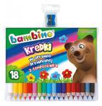 Kredki ołówkowe Bambino 18 kolorów + temperówka w sklepie internetowym e-szkolniak.pl