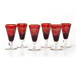 Czerwone kieliszki do likieru - ręcznie wykonane w sklepie internetowym Ajmara.pl