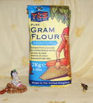 Mąka z cieciorki (2kg) w sklepie internetowym Indiaonline.pl