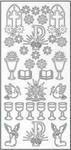 Sticker złoty 01200 - motywy komunijne, kwiaty x1 w sklepie internetowym papierA4.pl