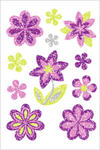 Naklejki HERMA Magic 6293 kwiaty kwiatki brokatowe w sklepie internetowym papierA4.pl
