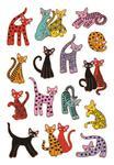Naklejki HERMA Decor 3337 kolorowe koty x1 w sklepie internetowym papierA4.pl