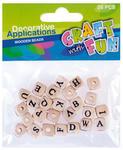 Koraliki drewniane literki Craft with Fun 26e x1 w sklepie internetowym papierA4.pl