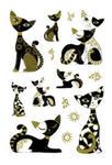 Naklejki HERMA Magic 3176 koty x1 w sklepie internetowym papierA4.pl