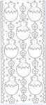 Sticker srebrny 01821 - kurczaki w jajku x1 w sklepie internetowym papierA4.pl