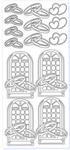 Sticker srebrny 11330 - obrączki, okna (R04) x1 w sklepie internetowym papierA4.pl