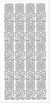 Sticker srebrny 13770 - listki i kwiatki x1 w sklepie internetowym papierA4.pl