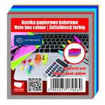 Kostka biurowa Inter klejona 85x85 mm kolorowa x1 w sklepie internetowym papierA4.pl